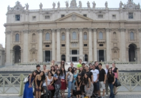 Revelle students in Rome